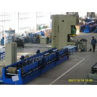China 45 Degree Cutting Multi Punching Cable Tray Roll Forming Machine For SteelDoorFrame wholesale