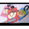 China wholesale good quality custom promotional soft pvc cartoon luggage tag wholesale