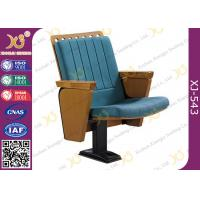 China Fireproof Iron Frame Audience Seating Chairs For Lecture Hall Auditorium wholesale