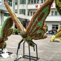 China Beautiful Artificial Butterfly Sculpture Artificial Grass Sculpture Animal Topiary Craft wholesale
