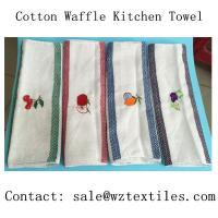 China home textile 100 cotton waffle kitchen towel /tea towel /dish towel for USA wholesale