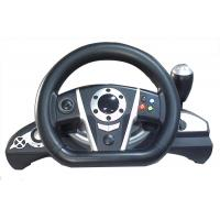 China 2.4G RF Wireless Racing Video Game Steering Wheel With Receiver / F1 Gear Shift wholesale