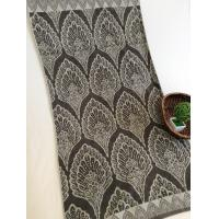 China Double Plush Cotton Bath Towels Indian Style , Brown Peacock Beach Towels on sale
