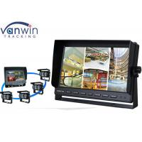 China 4 CH High Resolution TFT Car Monitor DC12V / DC 24V LCD Quad Video Screen wholesale