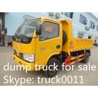 China small 4x4 dongfeng LHD dump truck 1 cbm to 5 cbm tipper truck for sale, hot  sale all wheels drive dongfeng dump tipper wholesale