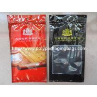 China Resealable Plastic Cigar Bags With Humidity Controlled System For Nicaragua Cigars / Dominica Cigars wholesale