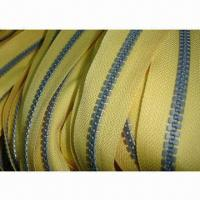 China Derlin Long Chain Zipper/Zips Roll/Zip Fastener, Made of Polyester and Resin on sale