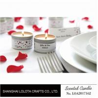 China Silver And Golden Color Beautiful Scented Candles , Soy Wax Small Tin Candles on sale