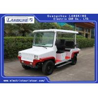 China Red / White Five Seats Electric Patrol Car With Bucket HS CODE 8703101900 on sale