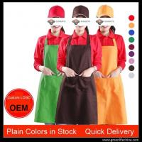 China Promotional advertisement custom high quality kitchen aprons wholesale ready for logo on sale