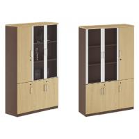 China modern office 3 doors glass document cabinet furniture wholesale