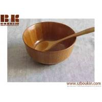 China high quality eco firendly bamboo bowl wooden round bowl salad bowl on sale