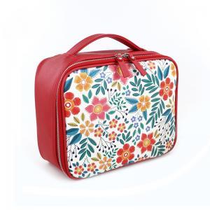 China Floral PU L24*D9*H19CM Makeup Organizer Travel Bag wholesale