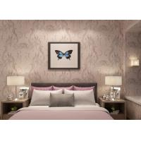 China Moisture - Proof Light Pink Rustic Floral Wallpaper , Home Furnishing Wallpaper wholesale