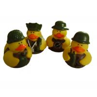 China 5cm Length Mini Rubber Ducks Squeezing Bee Design Baby Bath Time Fun Toy wholesale
