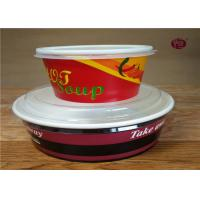 China Christmas Disposable Biodegradable Soup Containers / Bowls 380ml - 1100ml on sale