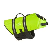 China Green Float Coat Dog Life Jacket For Swimming Adjustable And Reflective Grab Handle on sale