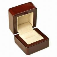 China Wooden Jewelry Box, Measures 85x98x92mm wholesale