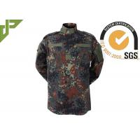 China Woodland ACU Army Combat Uniform , Camouflage Police And Security Uniforms wholesale