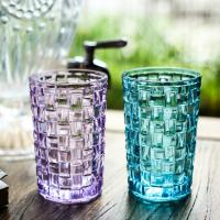 China Tall Drinking Glass Water Cup , Weaving Personalized Whiskey Tumblers on sale