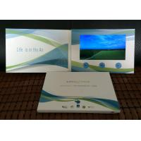 """China 2017 promotional business advertising  card 7"""" tft  Screen branded video brochure Soft Cover lcd video brochure card wholesale"""