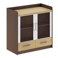 China modern office low credenza cabinet/glass door side cabinet furniture wholesale