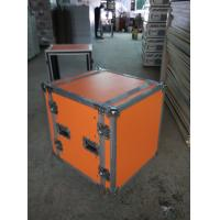 China Orange Plywood Speaker Aluminum Tool Cases 2 In One With 4'' Strong PVC Wheels wholesale