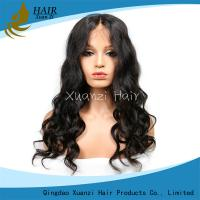 China Natural Hairline Bleached Elegant Brazilian Hair 360 Lace Human Hair Wig Hat Full Lace Wig wholesale
