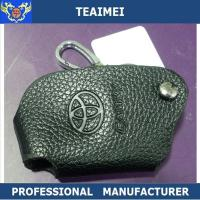 China Black Real Cow Leather Car Key Remote Case For Toyota Reiz Yaris wholesale