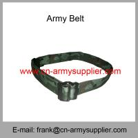 China Wholesale Cheap China Military PP  Police Metal Bucklet  Army Camouflage Belt wholesale