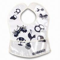 China Lovely Baby Bib, ODM Orders are Welcome, Made of Soft Plastic (PE) wholesale