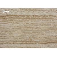 China Decorative Travertine Marble Floor And Wall Tiles Non Deformation Anti - Scratch for sale