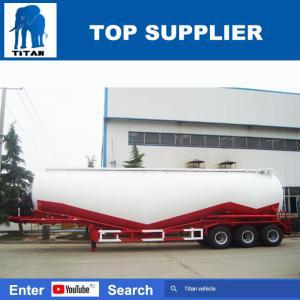 China 70t tank truck cement bulker trailer in dubai bulk fly ash trailer - TITAN VEHICLE on sale