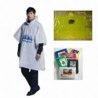 China PE Waterproof Poncho, Various Sizes are Available wholesale