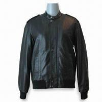 China Women's Leather Jacket, Made of 100% PU, Classic Design and Comfortable Fitting on sale