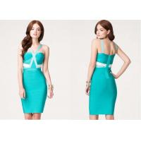 China Colorblock Crisscross Womens Club Dresses Sculptural Bandage wholesale