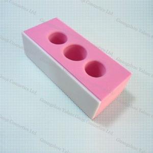 China OPI Pink Three Holes Polishing Nail Block Sanding Block File Nail Art Tools And Equipment wholesale