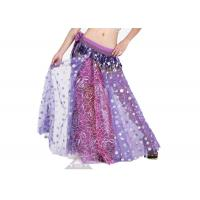 China Decorative Sequin Plus Size Chiffon Belly Dance Skirt , Belly Dancing Dress wholesale