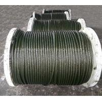 China 6x19+fc galvanized steel wire rope on sale