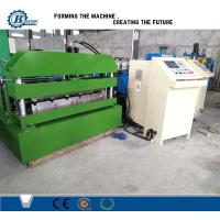 China Hydraulic Steel Corrugated Roofing Sheet Crimping Machine , Metal Roofing Roll Forming Machine wholesale