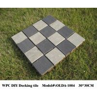 China DIY WPC composite decking tile reviews 30cm*30cm (OLDA-1004) wholesale