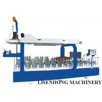 China Blue Color Veneer Wrapping Machine , Cold / Hot Glue Laminator Machine Long Life Span wholesale