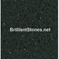China Artificial Quartz Stone Crystal Black Model 305, Stain Resistance, High Hardness on sale