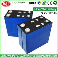 China Long life cycle lifepo4 battery cell 3.2V 120Ah for solar energy wholesale