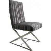 China Modern Metal Fabric Dining Chair, Black Leather Dining Room Furniture wholesale