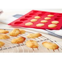 China Red Silicone Cake Molds Reusable Heat Resistance Shell Cake Pan For Dessert on sale