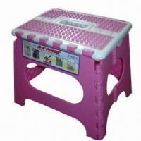 China Plastic folding stool, easy and safety to take or use wholesale