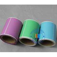 adhesive colorful  art coated paper label sticker roll for articles outbox shipping label