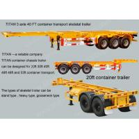 China 20ft 40 foot Skeletal Container Trailer Chassis Semi Trailer Dual line braking system wholesale