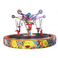 China 220 V Lollipop Rotating Bungee Jumping Trampoline Customized Color wholesale